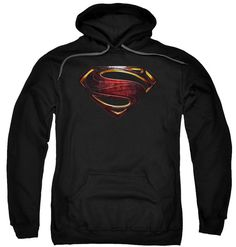 Justice League Movie Superman Logo Pull Over Hoodie