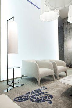 Italian Designer Upholstered Opale  Lounge Chair - High-end Italian Designer & Luxury Furniture at Cassoni.com