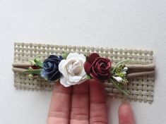 Dainty Flower Headband - Rose Headband - newborn headband - baby hairband - soft headband - Small headband - baby headband mulberry flowers