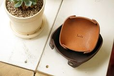 5611 Leather Tray Ver.2 Vegetable Leather Large by HEVITZ on Etsy