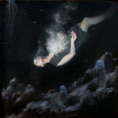 Painting by Henrik Uldalen Henrik Uldalen, Hidden Art, What Lies Beneath, Call Art, Portraits, Figure Painting, Les Oeuvres, Collage Art, Art Inspo