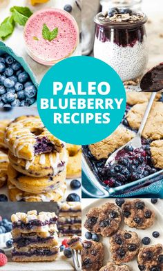 This is a collection of paleo blueberry recipes of all kinds including paleo blueberry muffins, bars, cakes, meat dishes, salads, sauces, dressings, drinks and more!#paleotreats #paleosnacks #paleodesserts @pureandsimplenurishment Paleo Lemon Blueberry Muffins, Blueberry Salad, Blueberry Oatmeal, Blueberry Recipes, Paleo Recipes Easy, Real Food Recipes, Mixed Berry Crisp, Paleo Dessert, Dessert Recipes