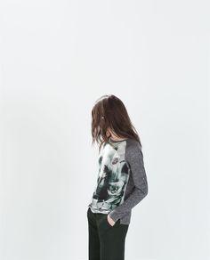 コンビTシャツ-長袖-Tシャツ-WOMAN   ZARA 日本
