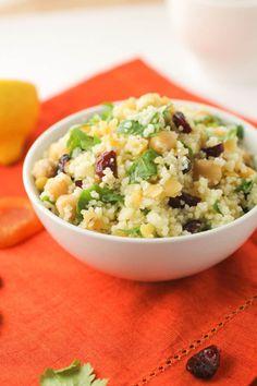 A Colorful Couscous, Lentil and Chickpea Salad ! #couscous, #salad, #vegetarian