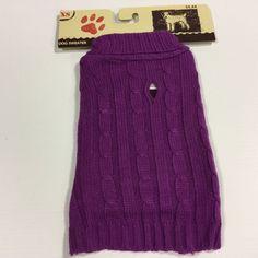 Holiday Winter Dog Purple Sweater Jacket Coat New Dog Cloths Size XS | eBay