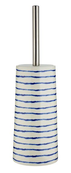 Brighten up a little corner of your bathroom with this cheerful stripe toilet brush. Priced at £12.