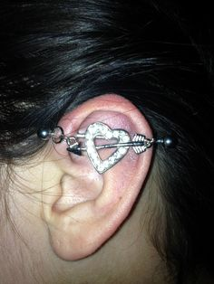 My industrial piercing | [BODY] | Pinterest | Industrial ...