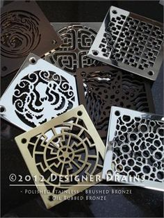 contemporary showers by Designer Drains, shower drain cover Floor Drains, Shower Drain, Master Bath Remodel, Ideias Diy, Deco Design, Beautiful Bathrooms, Bathroom Inspiration, Small Bathroom, Shower Bathroom