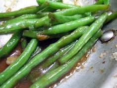 Asian vegetable side dish - Stir fry green bean recipe