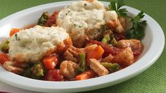 ♥ Bisquick Heart Smart® recipe! Cozy up to a hearty stew that goes together quickly and is ready in 30 minutes.