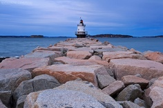 Lighthouse Jetty Fine Wall Art Photo Print Maine Spring Point Storm Clouds Evening Dusk Long Exposure Seascape Wall Home Decor Living Room. $120.00, via Etsy.