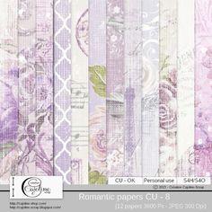 Romantic papers CU - 8 by Cajoline-Scrap