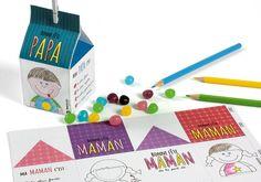 Offrez pour la fête des mamans ou des papas une petite boîte à imprimer, à assembler et à remplir de gourmandises.Facile à réaliser par les enfants. Une idée Wesco Family
