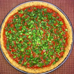 Paleo Almond Flour Pizza - hiding the spinach! For recipe info check out my Facebook page: Gluten Free Simplified