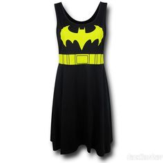 Images of Batgirl A-Line Scoop Neck Dress