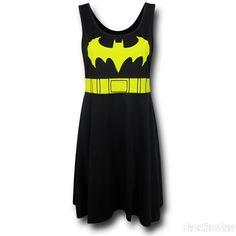 Images of Batgirl A-Line Scoop Neck Dress