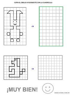 Dibujos en Cuadricula Coding For Kids, Math For Kids, Puzzles For Kids, Preschool Worksheets, Preschool Crafts, Visual Perceptual Activities, Graph Paper Art, Montessori Math, Hidden Pictures