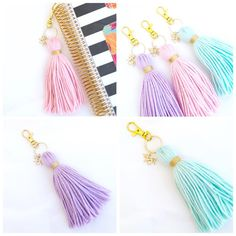 Unicorn Dreams Tassel Keychains are now available in my shop!  Available in soft…