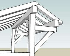 Wood Shed Idea in Timber Framing/Log construction Bbq Shed, Farm Shed, Carport Garage, Pergola Carport, Diy Pergola, Modern Pergola, Firewood Shed, Carport Designs, Carport Ideas