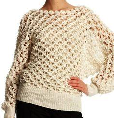 Tina's handicraft : blouses crochet --free pattern