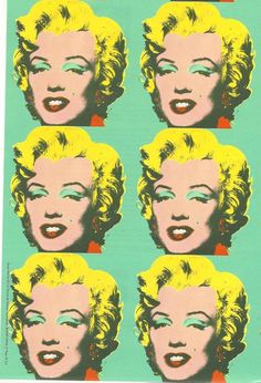 Andy Warhol's Marilyn Monroe ♣️Fosterginger.Pinterest.ComMore Pins Like This One At FOSTERGINGER @ PINTEREST No Pin Limitsでこのようなピンがいっぱいになるピンの限界