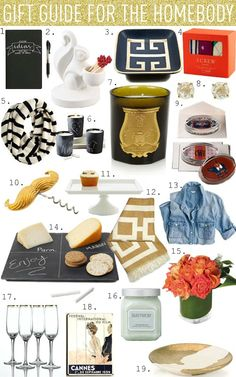 Gift Guide For The Homebody_ um NOPE! They got this all wrong so dont buy any of this for me! Well,  Maybe just the cheese.