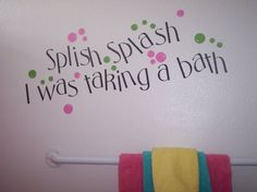 Splish Splash Vinyl Bathroom Decal Small via Etsy