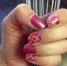 Raspberry Sparkle and Prissy Plaid