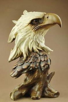 Wood Carving Designs, Wood Carving Patterns, Wood Carving Art, Wood Art, Eagle Head, Bald Eagle, Wood Sculpture, Sculptures, Image Tatoo