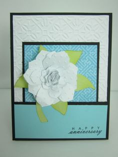 Cricut Flower Shoppe Card as seen in Cricut Mini Infomercial!
