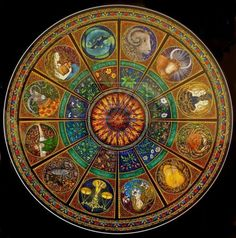 black moons in those eyes of hers...astrological mandala; beautiful.