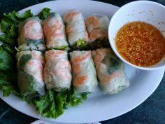 Mami-Eggroll: Peephuptmei Cambodian Restaurant, fresh naim chow spring rolls, Cambodian dishes, appetizer, light and healthy