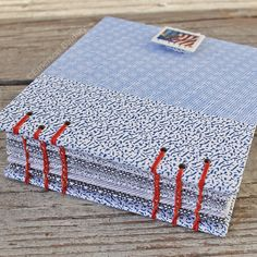 Recycled Mail Envelope Journal with US Flag by EmersonBindery, $15.00