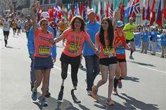 Mother-daughter bombing victims cross Boston Marathon finish line
