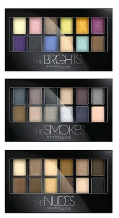The NEW Maybelline The Brights and The Smokes palettes now on the Ulta website (and The Nudes, too)