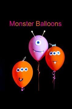 Little monster birthday balloons!! #Kids #Birthday #Party                                                                                                                                                                                 More