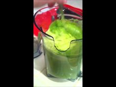 (VID 2) Sunday Aug 28 MEAN GREEN (for the 1st time).  1st reaction to having 1st 'juiced' drink.
