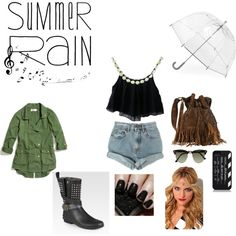 """Rainy Day Music Festival Style"" by craftymagician on Polyvore"