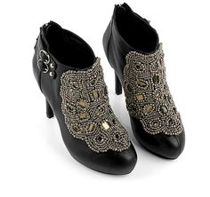 New Arrival Top Quality Fashionable and Unique Style Sequins and Beads Embellished High-Heeled Shoes For Women (BLACK,47) China Wholesale - Sammydress.com