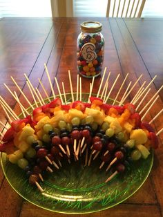 Rainbow Skewers Cut The Tips Off W Kitchen Scissors A Big Hit For Backyard Birthday24th BirthdayAdult Luau PartyAdult