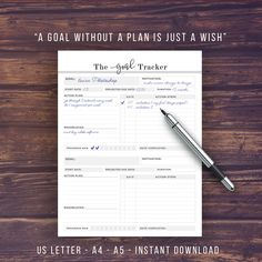 Habit Tracker and Goal Digger Set Printable by PrintablePineapple
