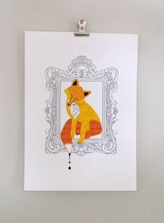 Dear Colleen | The Crafty Fox Paper: can't resist a fox illustration for my crafty workroom.