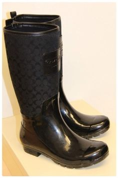 Coach Rain Boots <3 They are so comfy and look great classy or casual.