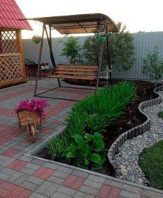 Side Yard Landscaping, Modern Landscaping, Ideas Terraza, Garden Tiles, Unique Garden Decor, Patio Deck Designs, Diy Garden Furniture, House Landscape, Garden Fencing