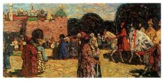Ancient Russia, 1904 by Wassily Kandinsky. Post-Impressionism. genre painting