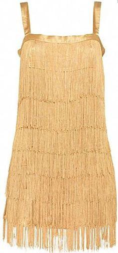 Gold Satin Fringe Dress - i LOVE LOVE LOVE this!