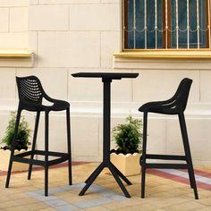 Resin Furniture, Outdoor Furniture, Outdoor Bar Sets, Black Bar Stools, Bistro Set, Indoor, Table, Home Decor, Interior