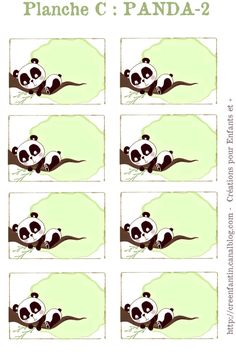 2 Mains de Lutin: DES ETIQUETTES ET DES MACARONS POUR LES CAHIERS Templates Printable Free, Printable Stickers, Free Printables, Baby Showers, Panda Names, Panda Craft, Panda Decorations, Panda Bebe, Pool Party Games