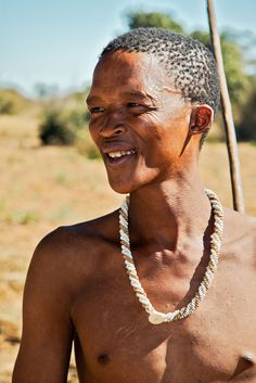A 33-year-old San man (Bushman) from Namibia (31 May 2006). The San include the indigenous inhabitants of Southern Africa before the southward Bantu migrations from Central and East Africa reached their region, which led to the Bantu populations displacing the Khoi and San to become the predominant inhabitants of Southern Africa. Wikipedia.