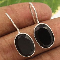 925 Sterling Silver Jewelry Earrings Natural SMOKY QUARTZ Gemstones Manufacturer #Unbranded #Stud
